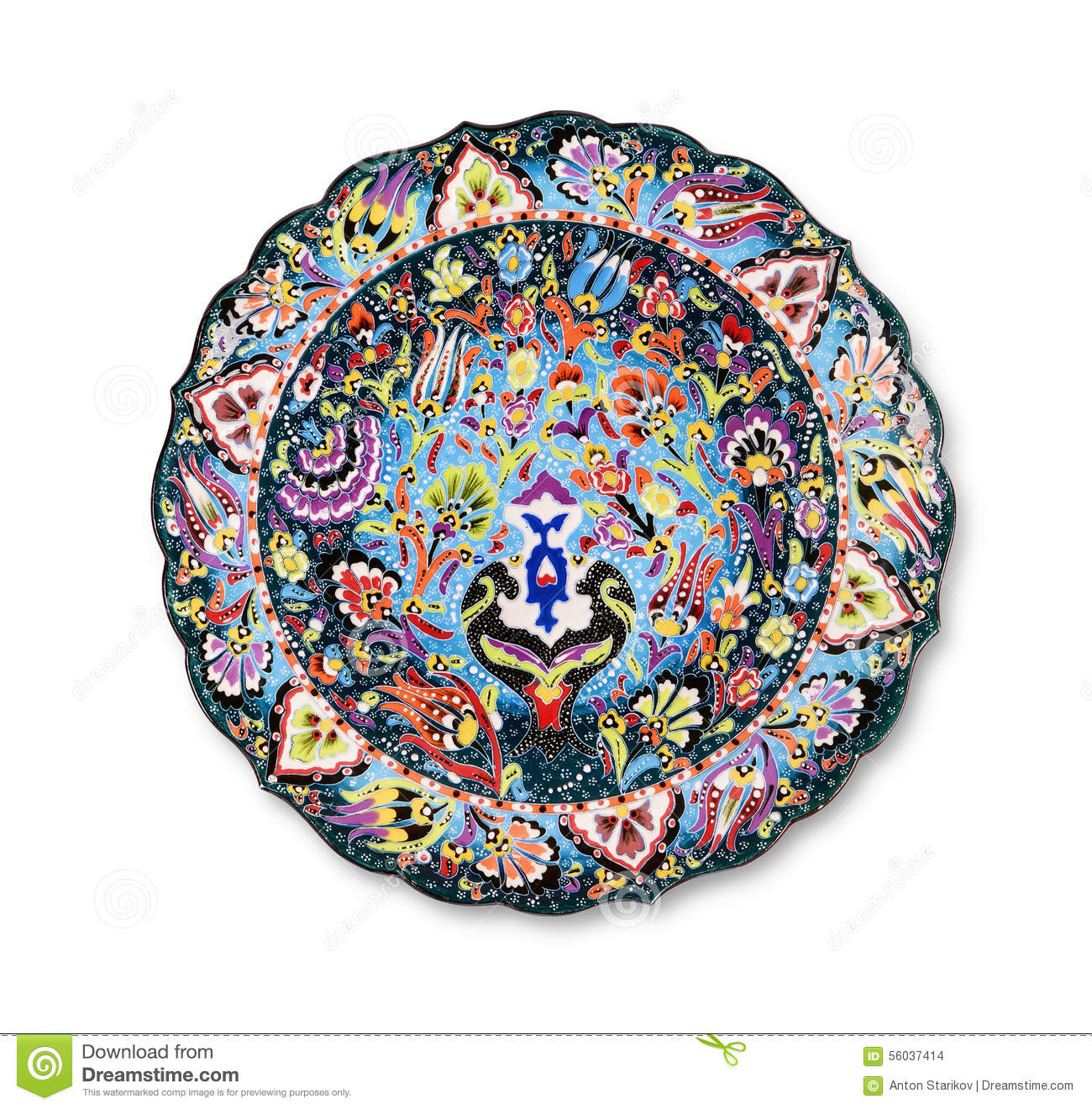 Decorative plate stock photo image 56037414 - Decoratieve platen ...