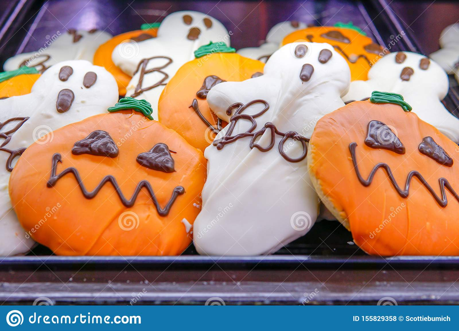Decorative Pumpkin And Ghost Cookies For Sale In Local