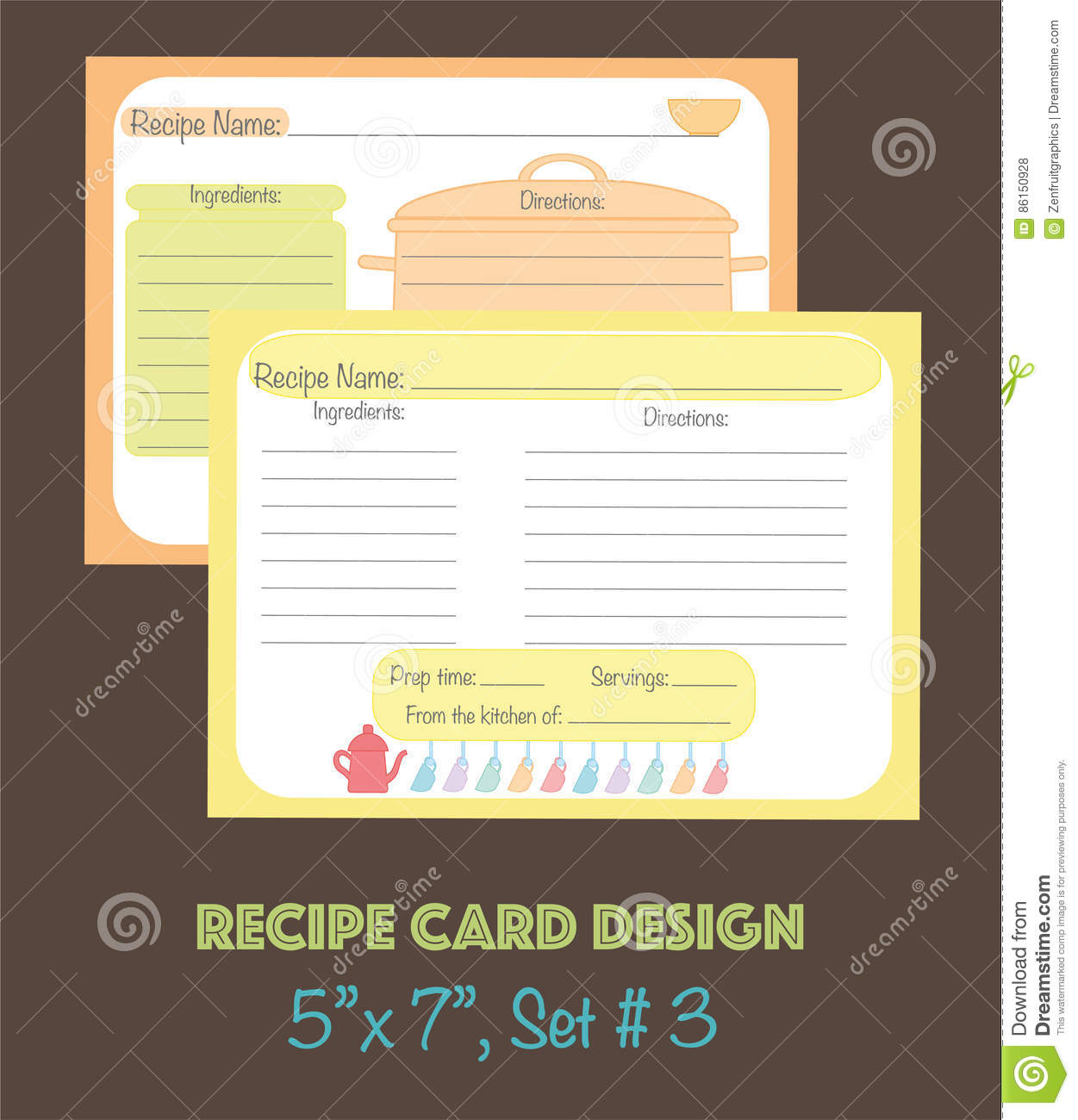 decorative recipe cards