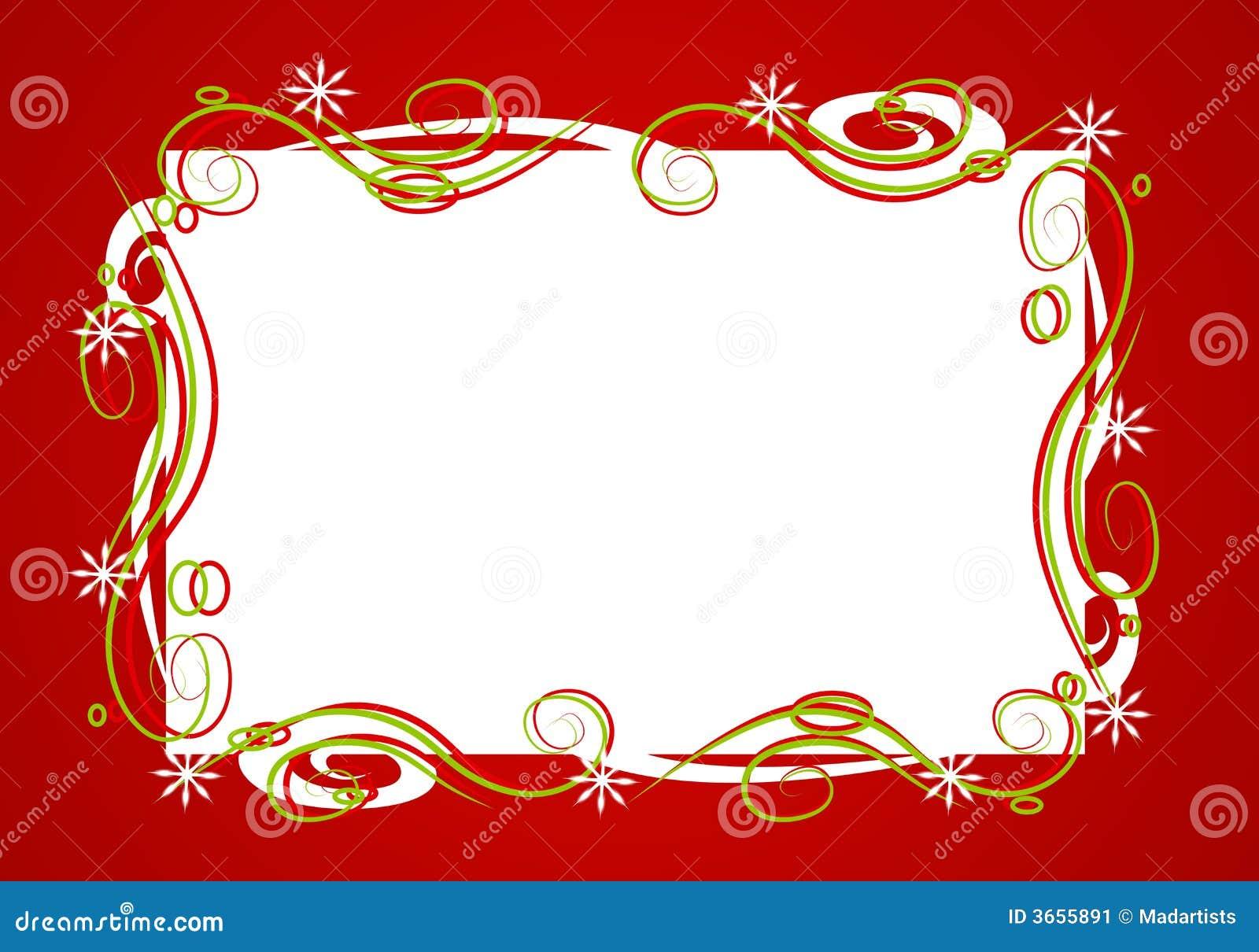 Decorative Red Christmas Frame Stock Image - Image: 3655891