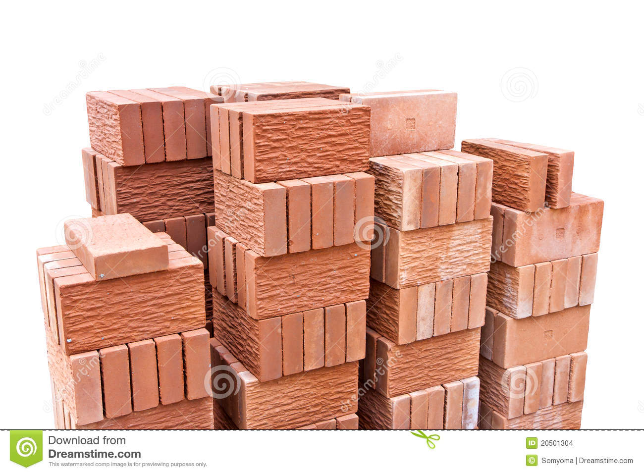 Decorative red clay brick