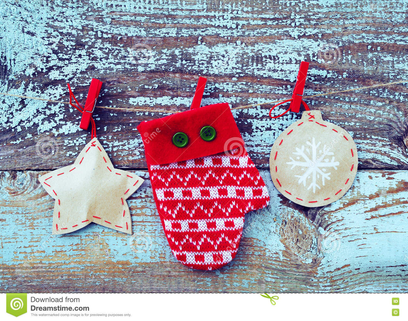 Mitten christmas decorations - Background Board Christmas Decoration