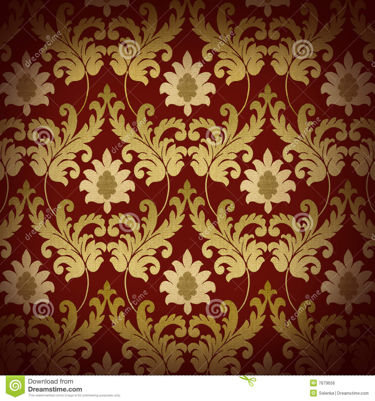 decorative red renaissance background royalty free stock