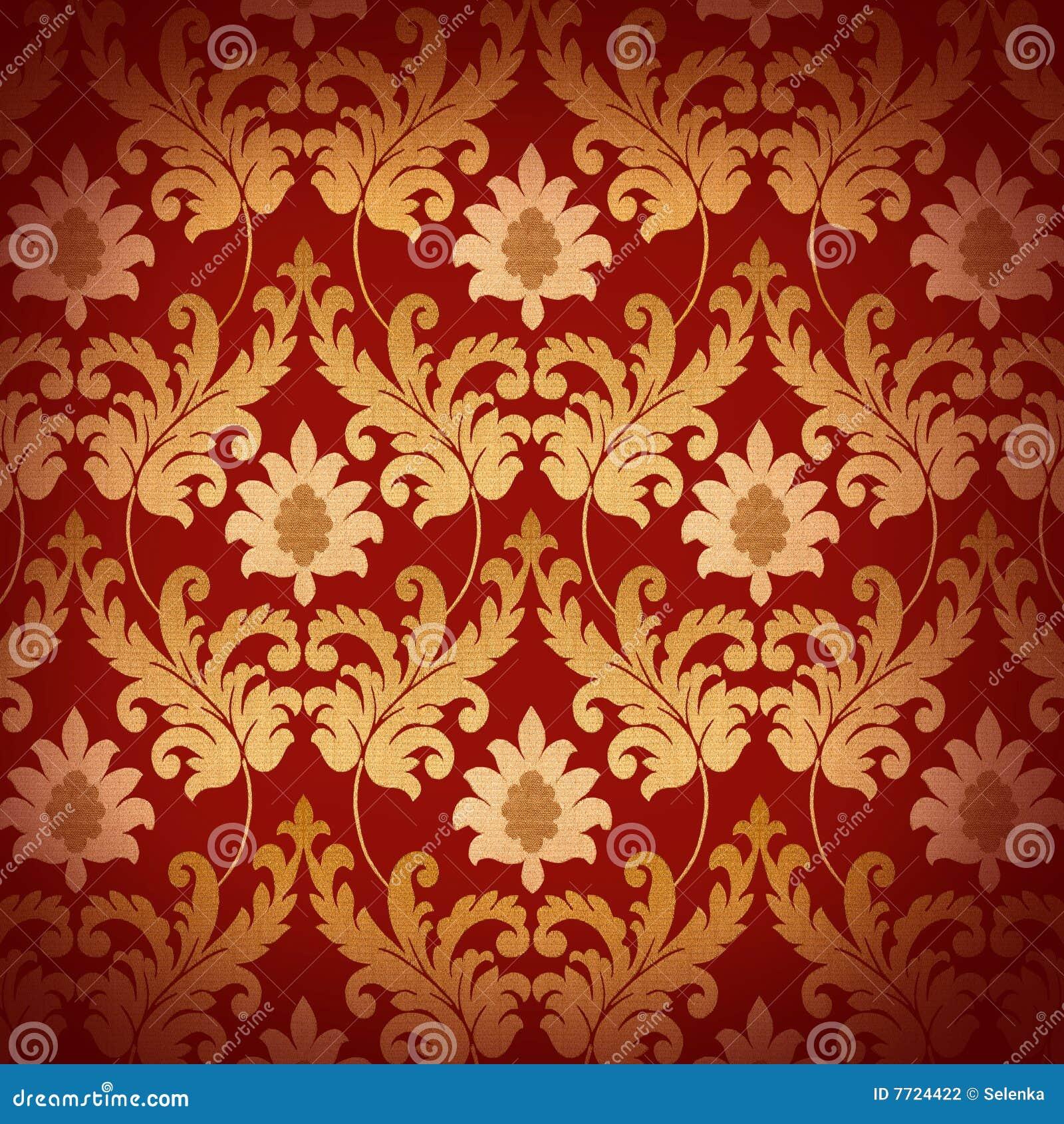 Decorative Red Renaissance Background Stock Photography ...