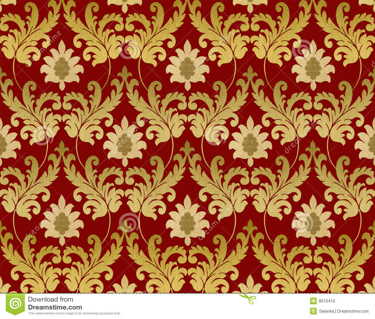 Decorative Red Renaissance Background Stock Photo Image
