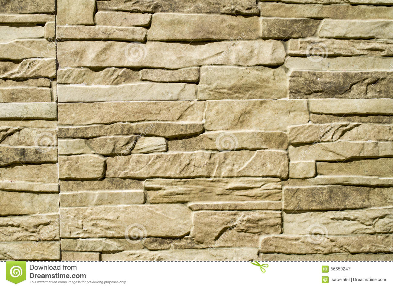 Decorative Wall Cladding : Decorative relief cladding slabs imitating stones on wall