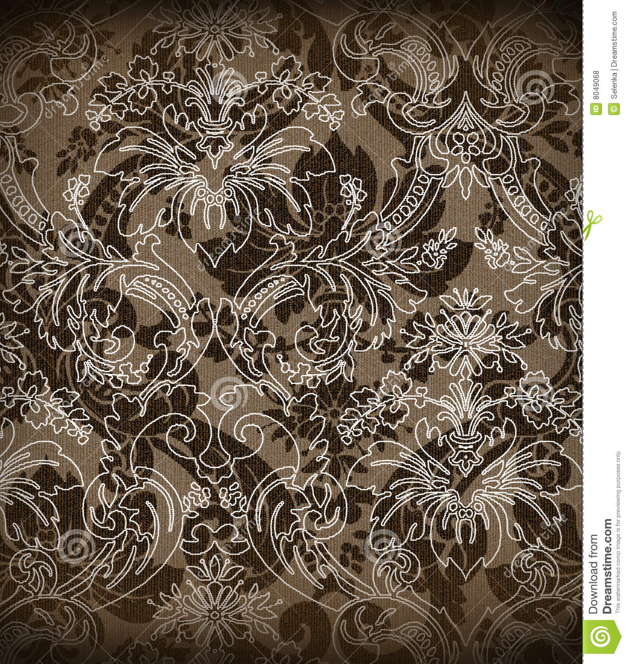 decorative renaissance background royalty free stock