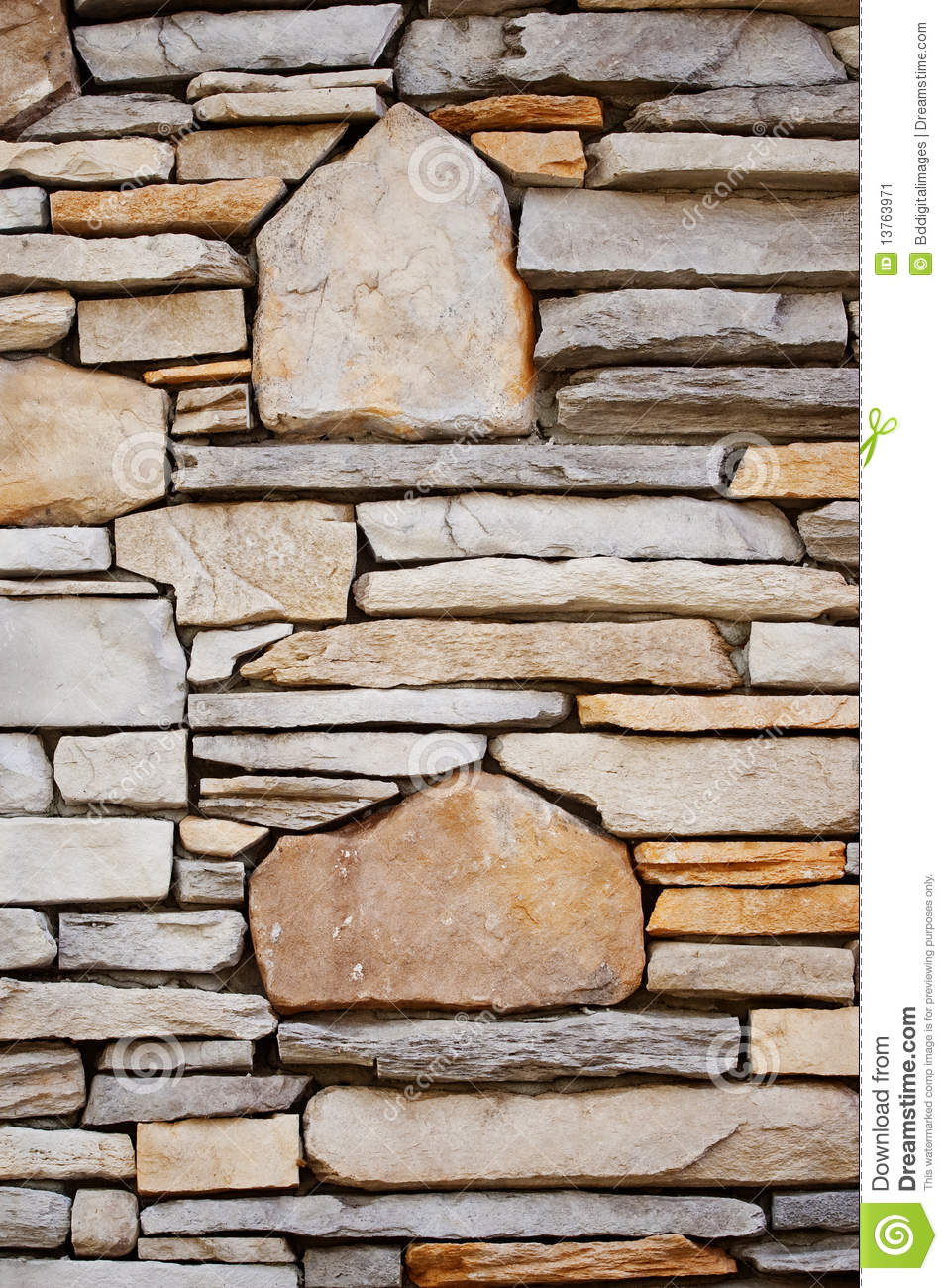 Decorative Wall Stone : Decorative rock wall stock image of design detail