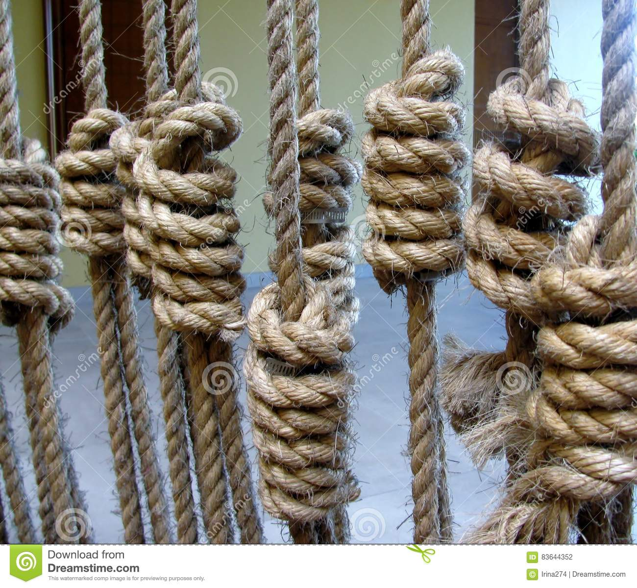 Decorative rope knots stock photo  Image of brown, equipment