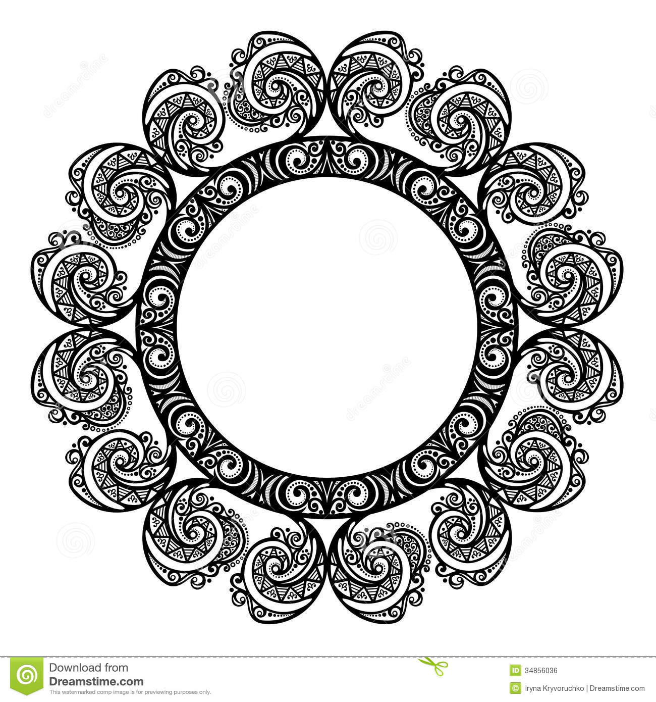 decorative round frame stock vector image of card freeze 34856036. Black Bedroom Furniture Sets. Home Design Ideas