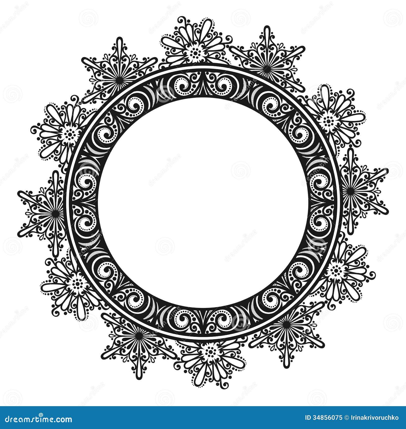 Decorative Round Frame Royalty Free Stock Photo - Image: 34856075