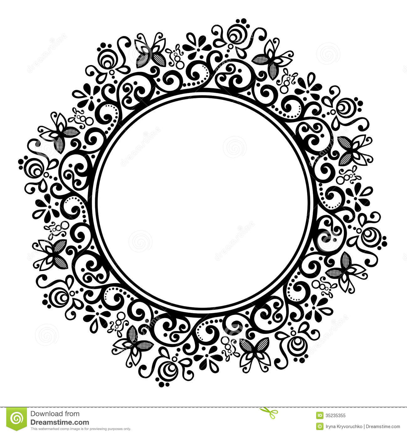 Decorative Round Frame Royalty Free Stock Photo - Image: 35235355