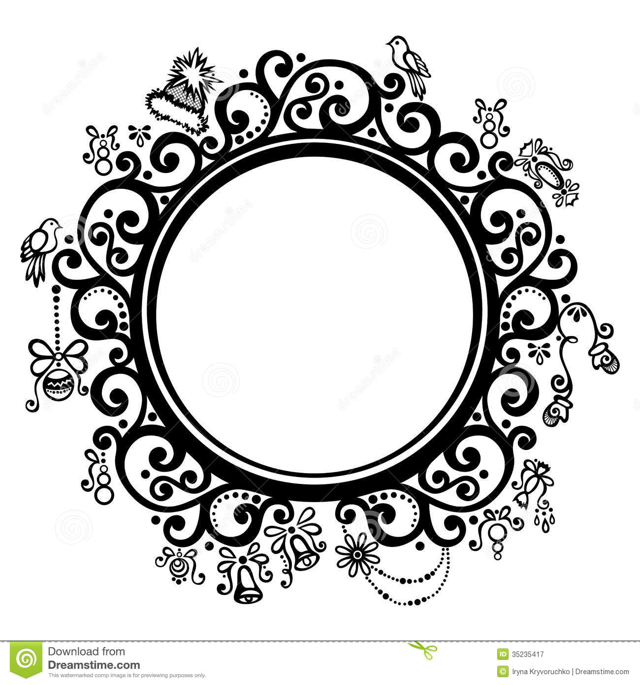 decorative round frame royalty free stock photography. Black Bedroom Furniture Sets. Home Design Ideas