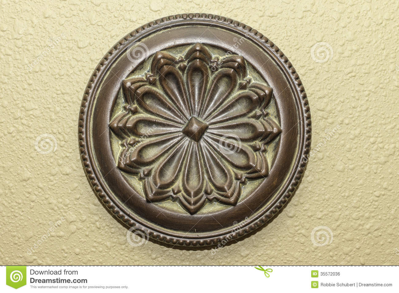 Round Shaped Wall Decor : Decorative round wall art royalty free stock image
