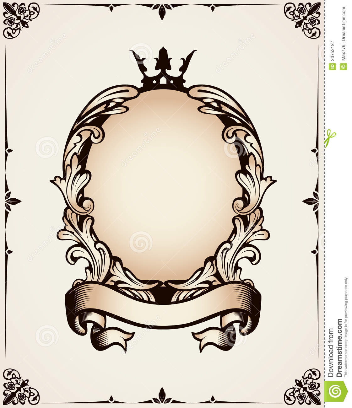 Decorative Royal Frame Royalty Free Stock Photography - Image ...