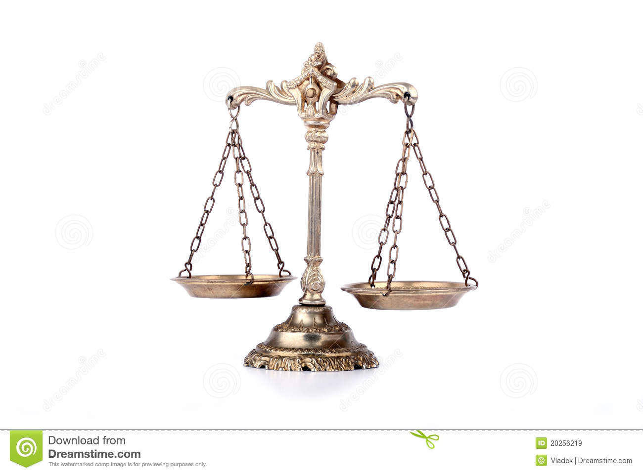 Decorative Scales Of Justice Stock Image - Image: 20256219
