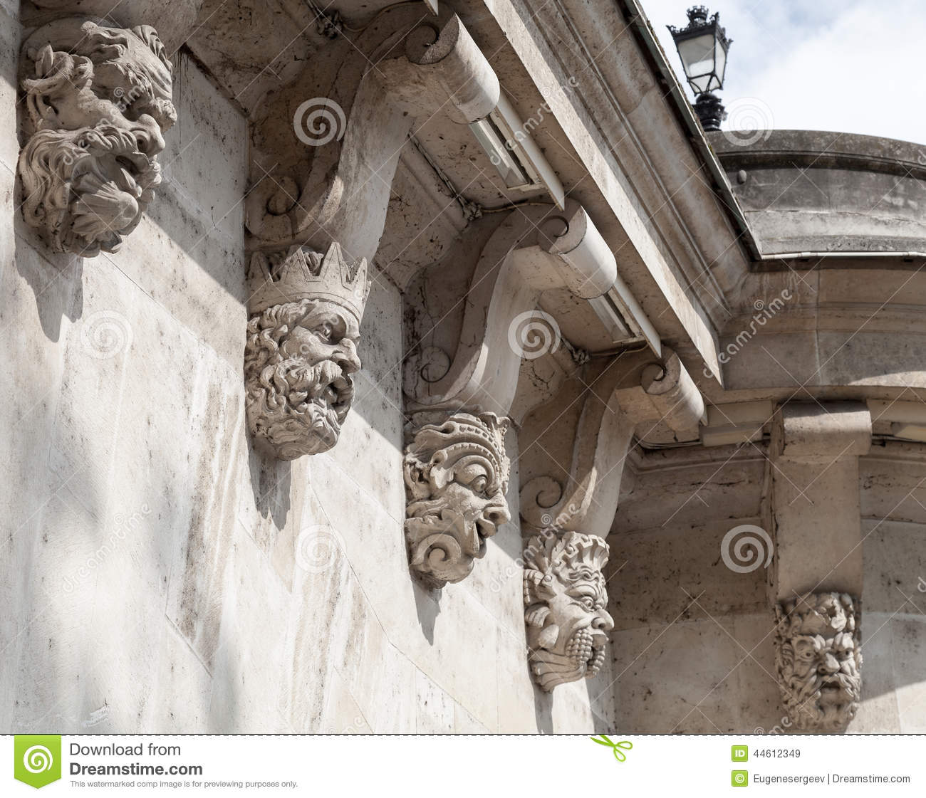 Decorative sculptures on the pont neuf stock photo image 44612349 - Statue decorative interieur ...