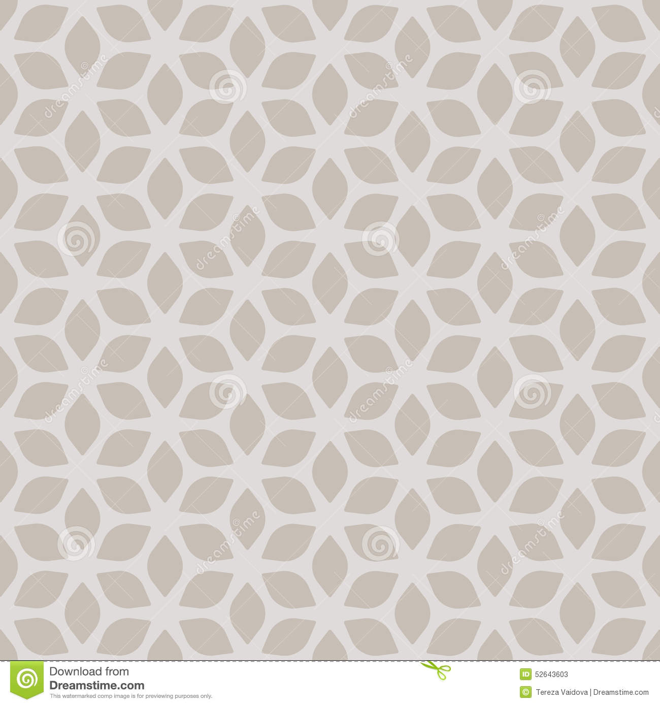 Decorative seamless floral geometric gold beige pattern for Object pool design pattern