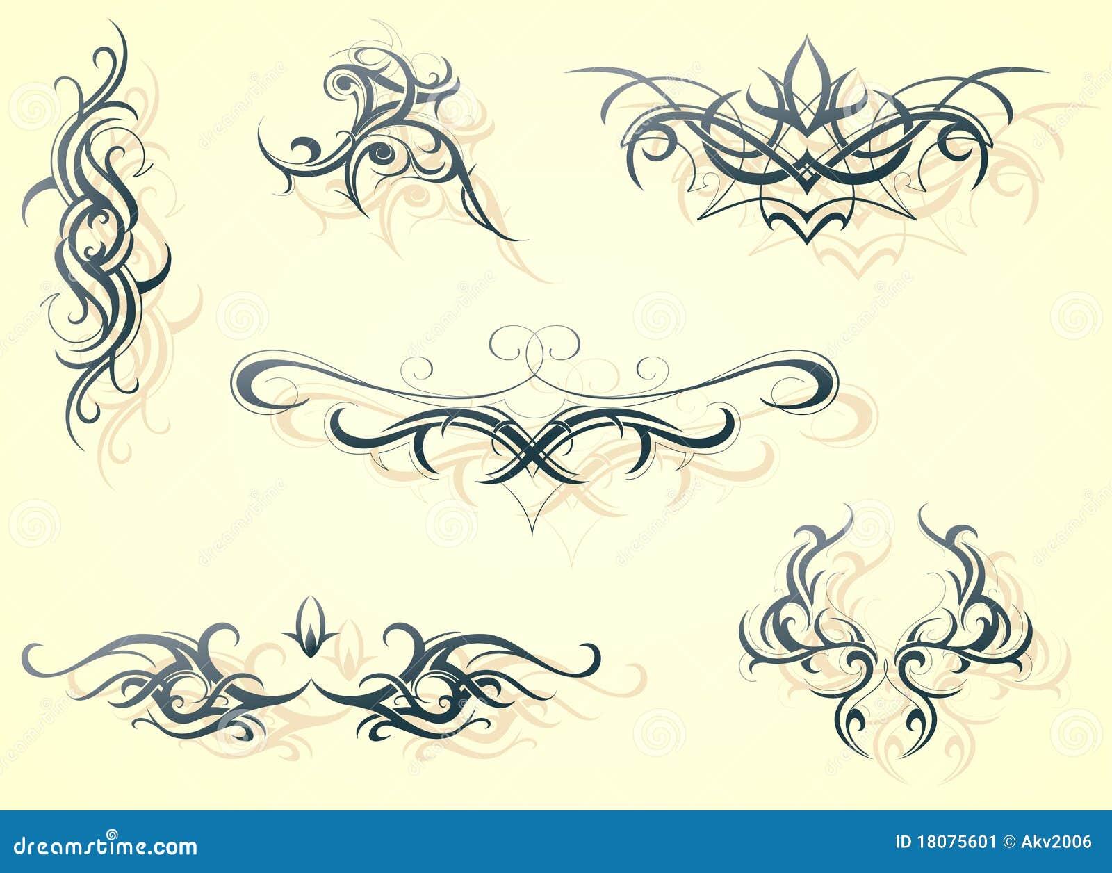 Decorative Shapes Stock Image - Image: 18075601