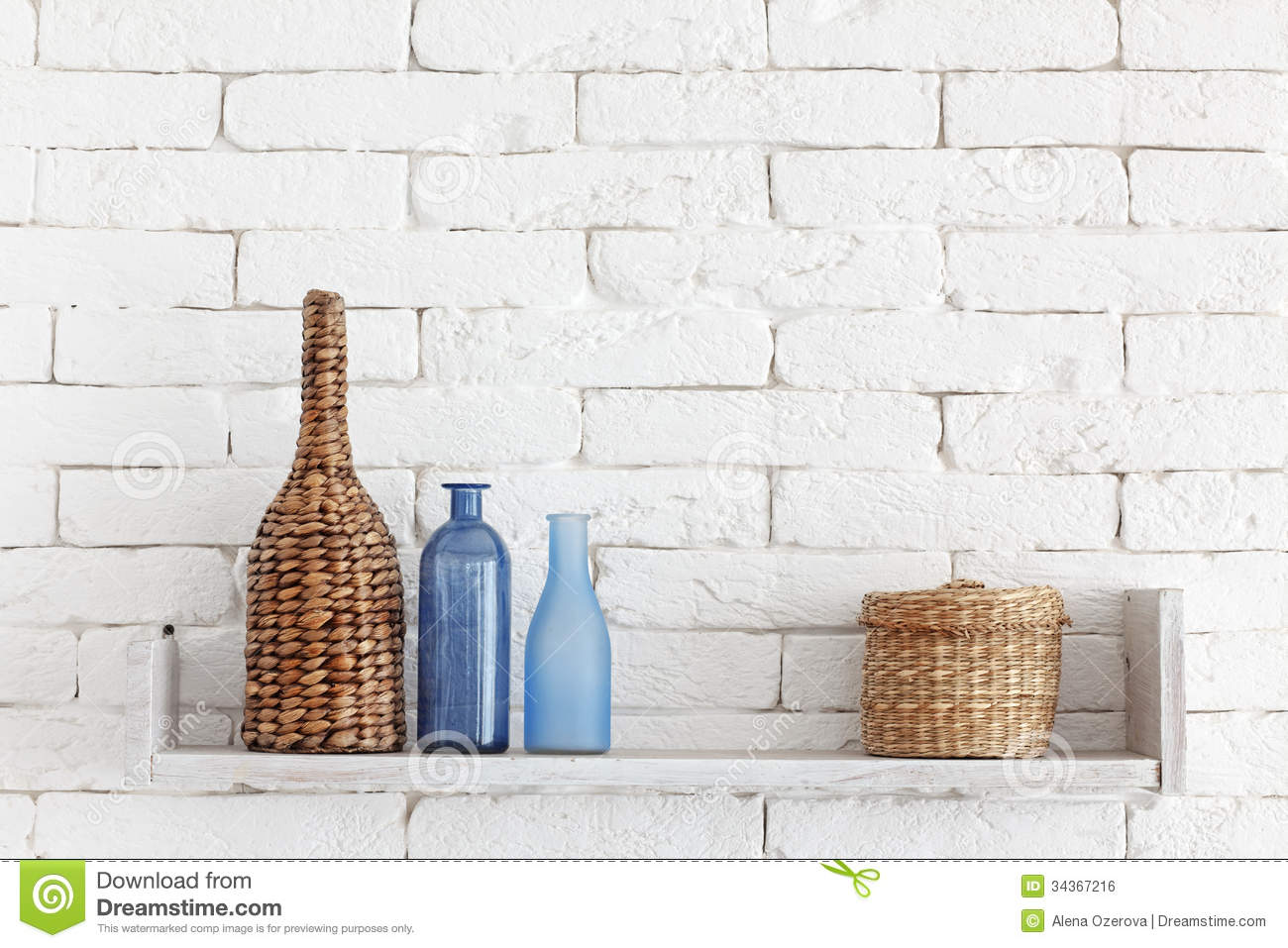 Decorative Shelf Stock Photo Image Of Cozy Decorative