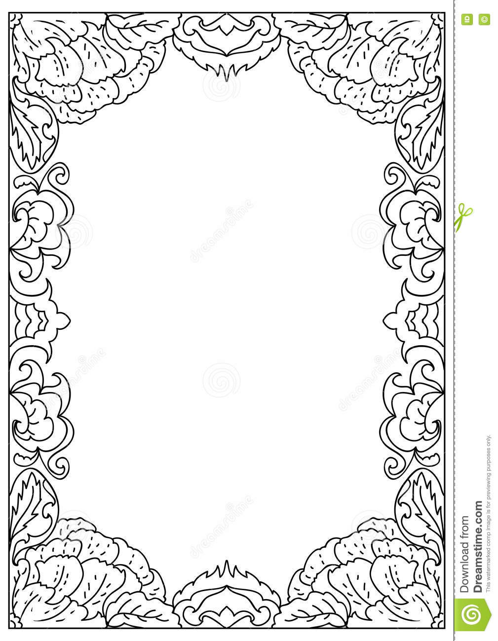 Square Mirror Frame Clipart Vector Oval Princess Sketch