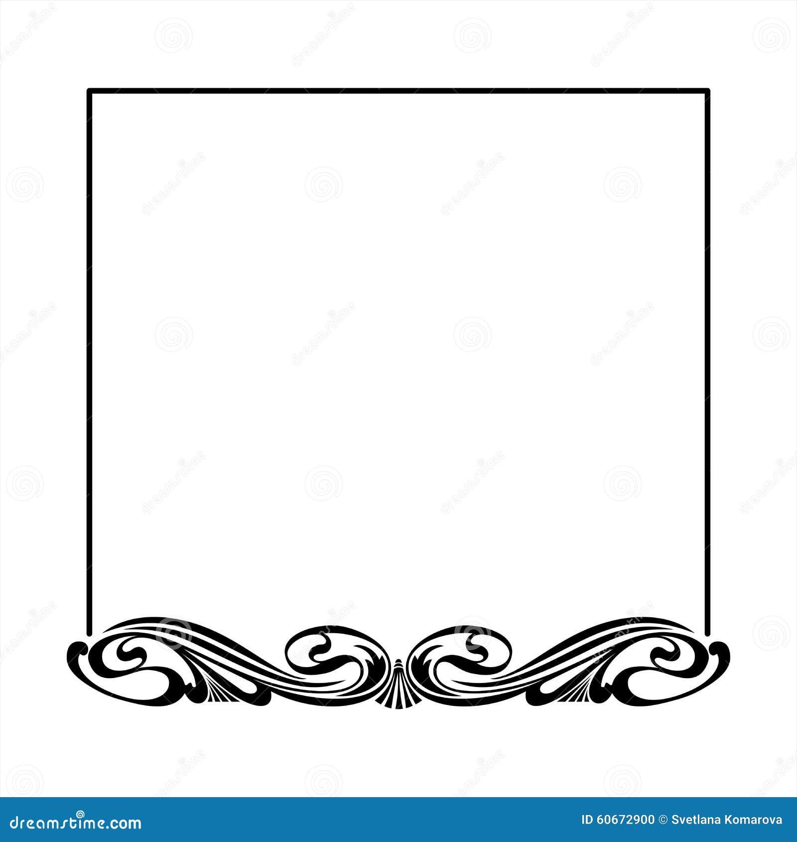 decorative square frame stock vector image 60672900. Black Bedroom Furniture Sets. Home Design Ideas