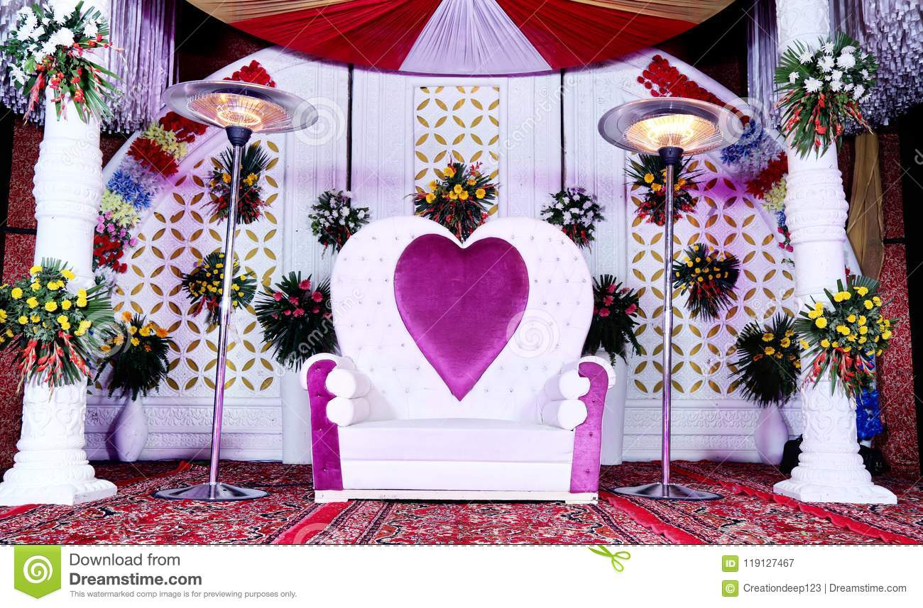 A Sofa In A Wedding Background In India Stock Image Image