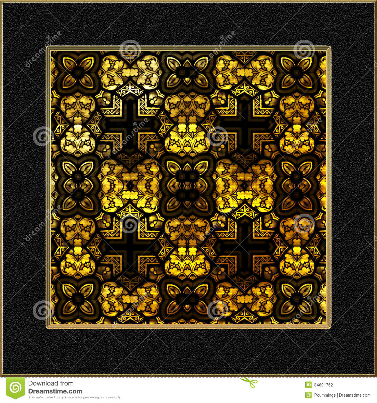 Decorative stained glass window panel stock illustration for Decorative stained glass windows