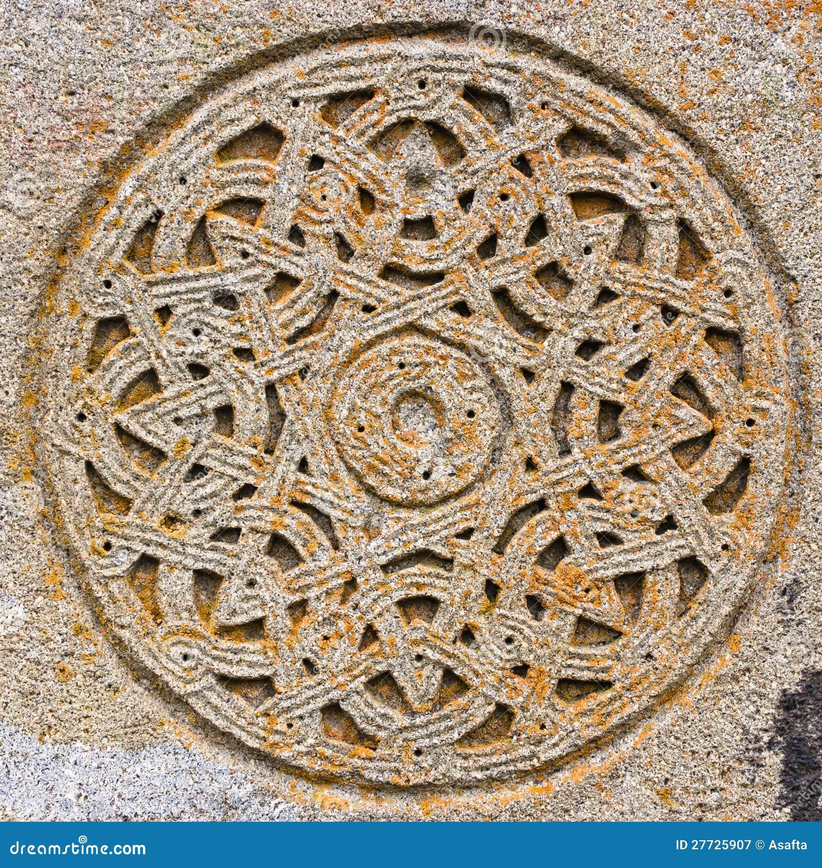 Decorative Stone Circle Royalty Free Stock Photography