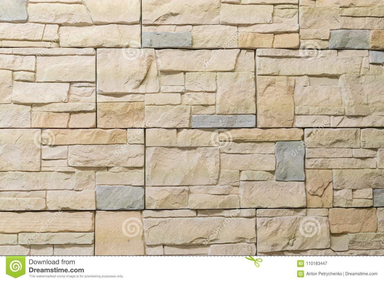 Decorative stone for decoration of the fireplace. Background