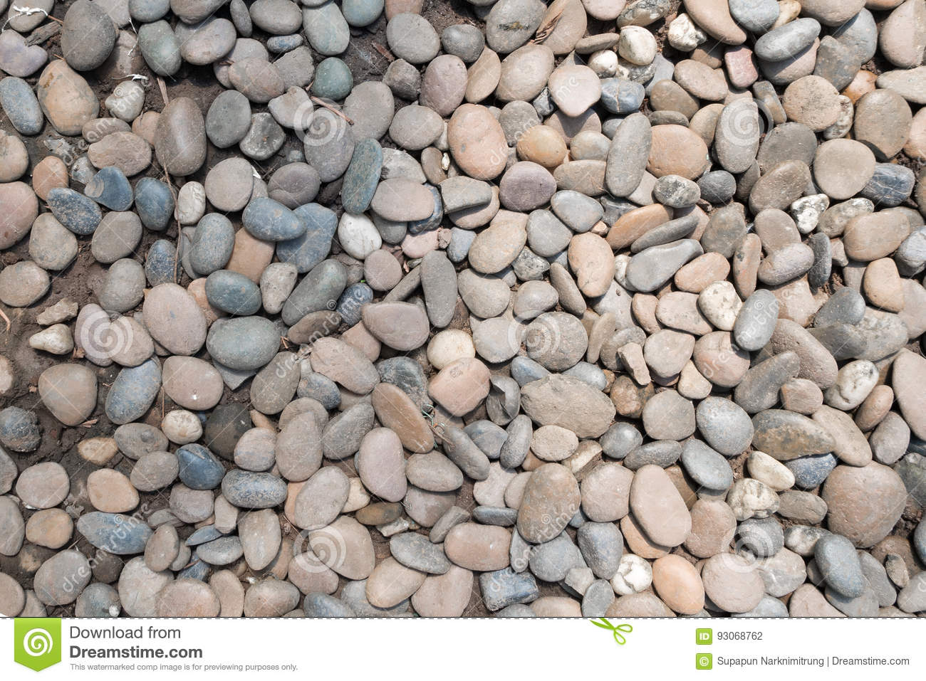 Decorative Stone Pebble Background Round Gravel Texture