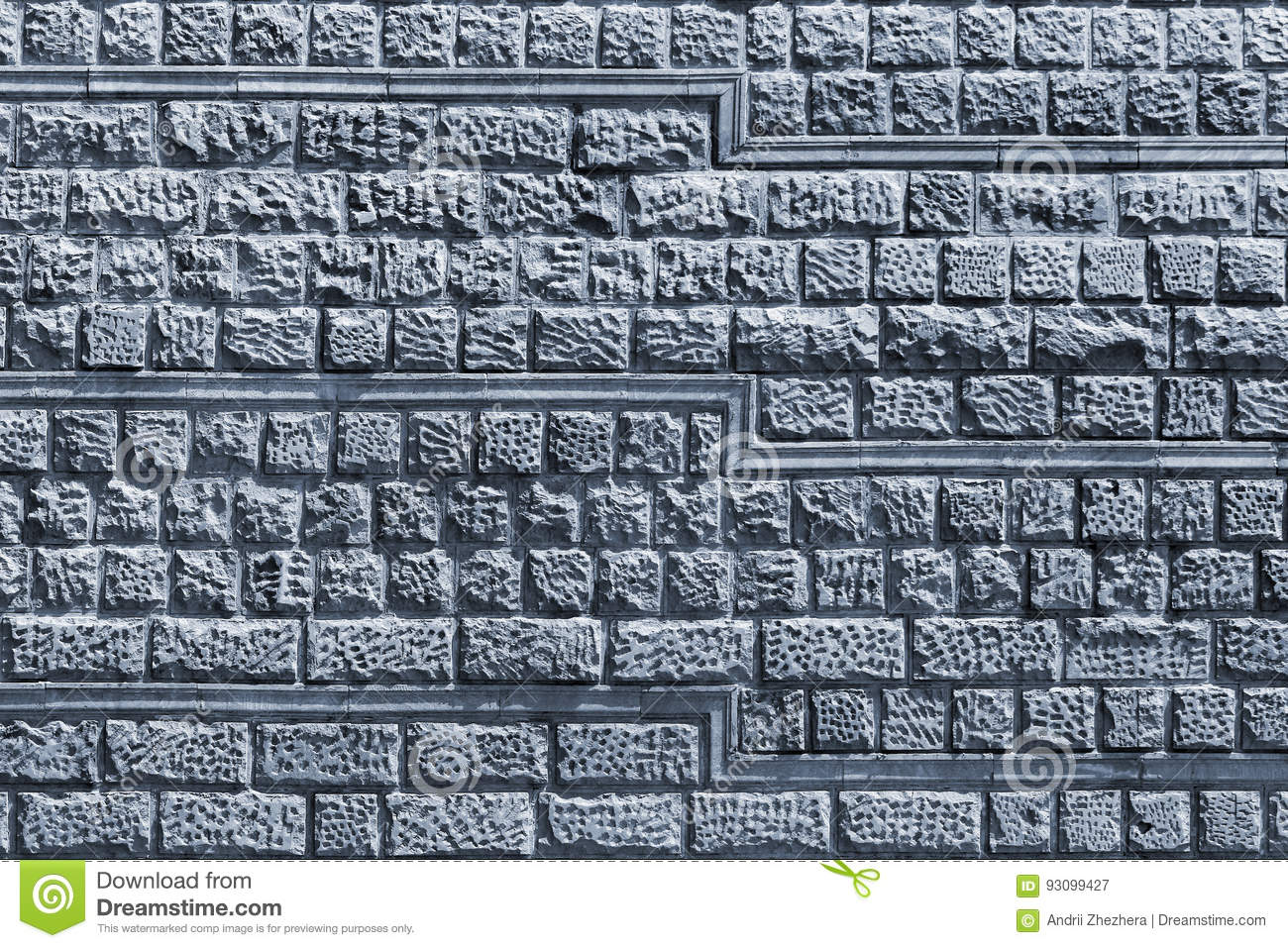 Decorative Stone Tiles In A Wall. Stock Image - Image of break ...