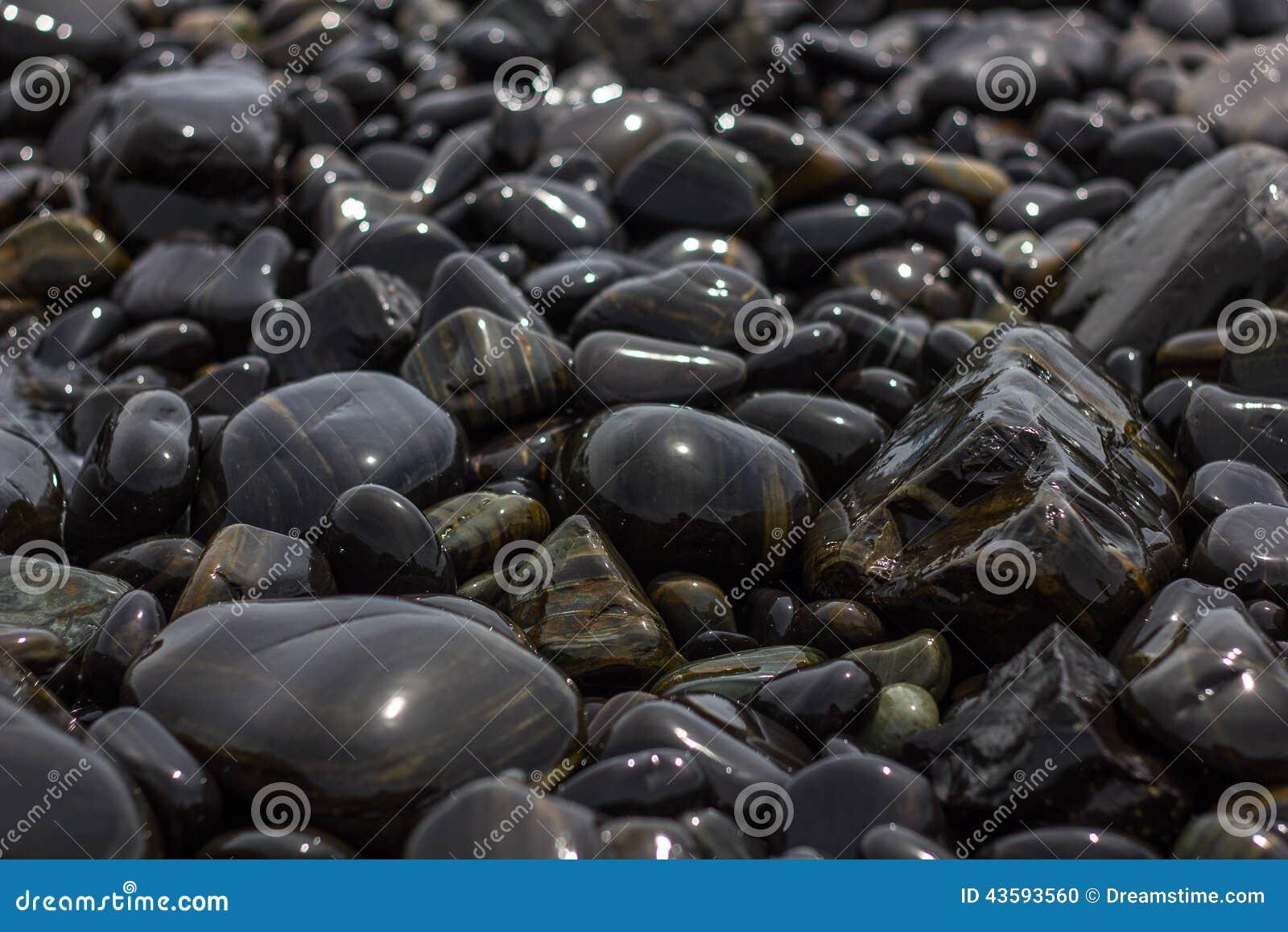 Decorative Stones Stock Photo Image Of Black Stones 43593560