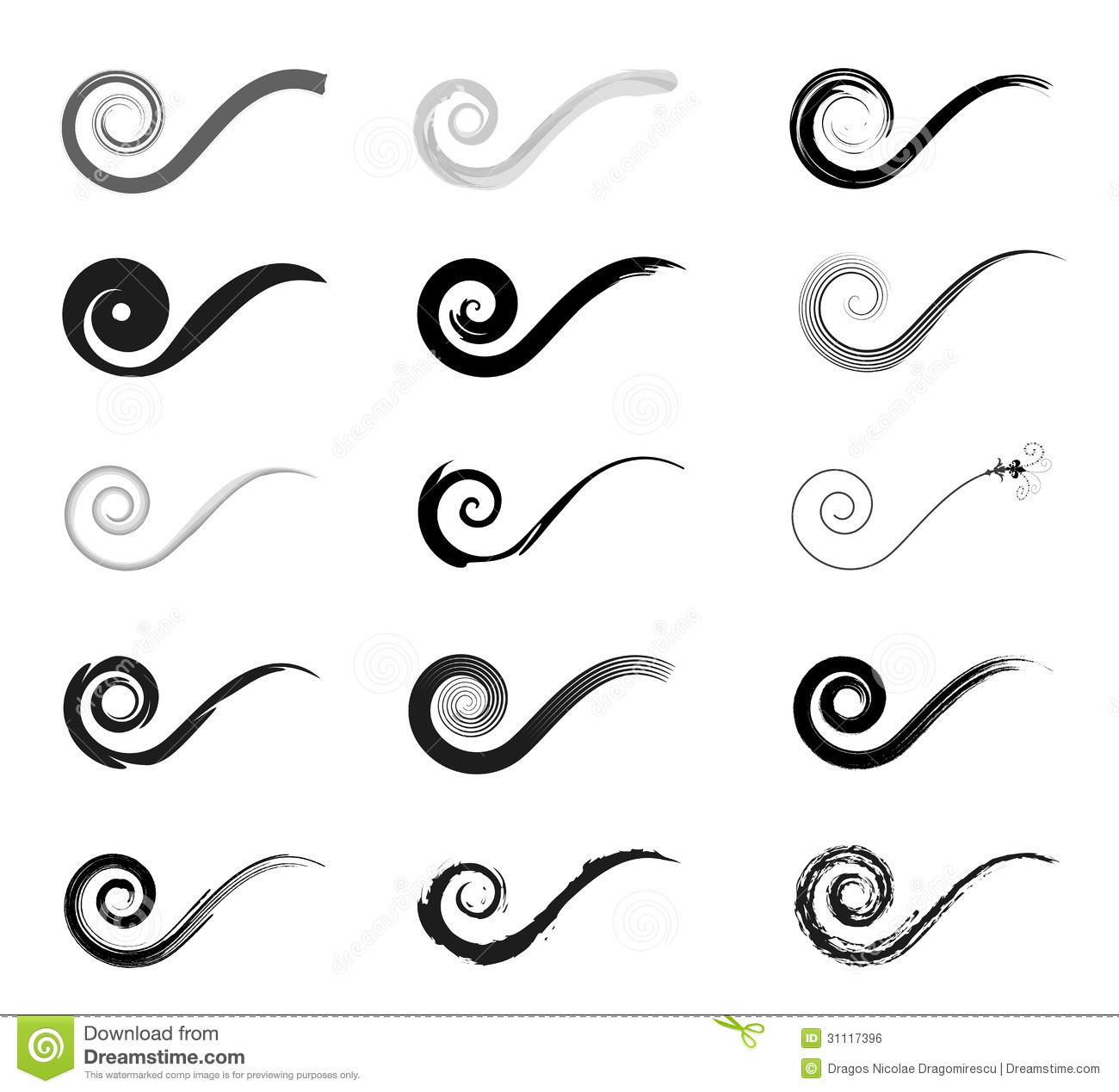decorative swirl pattern stock vector illustration of artistically 31117396. Black Bedroom Furniture Sets. Home Design Ideas