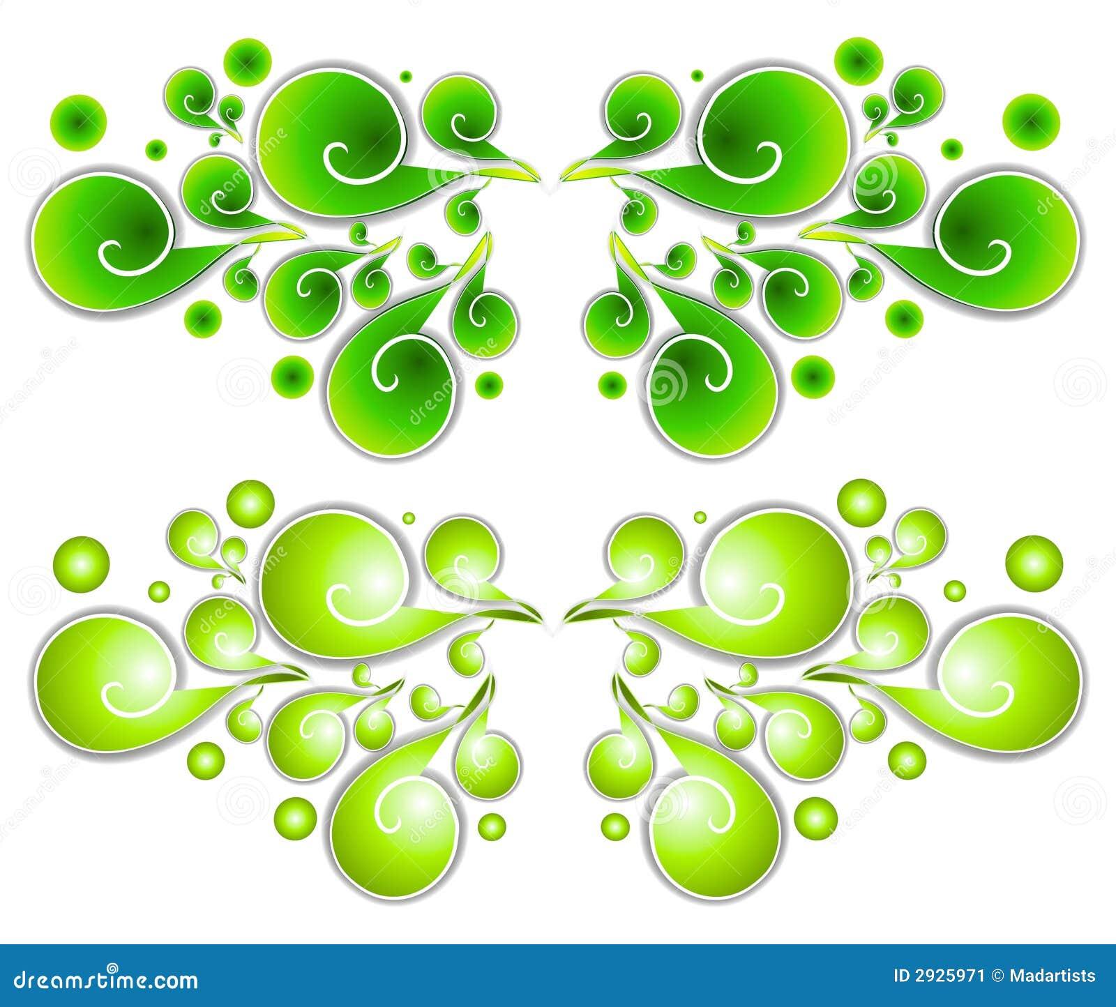 Green Swirl Clip Art