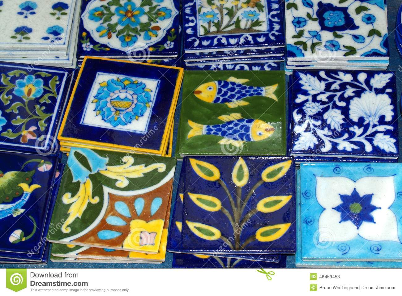 Decorative tiles oia greece stock photo image 46459458 - Ceramiche decorative ...