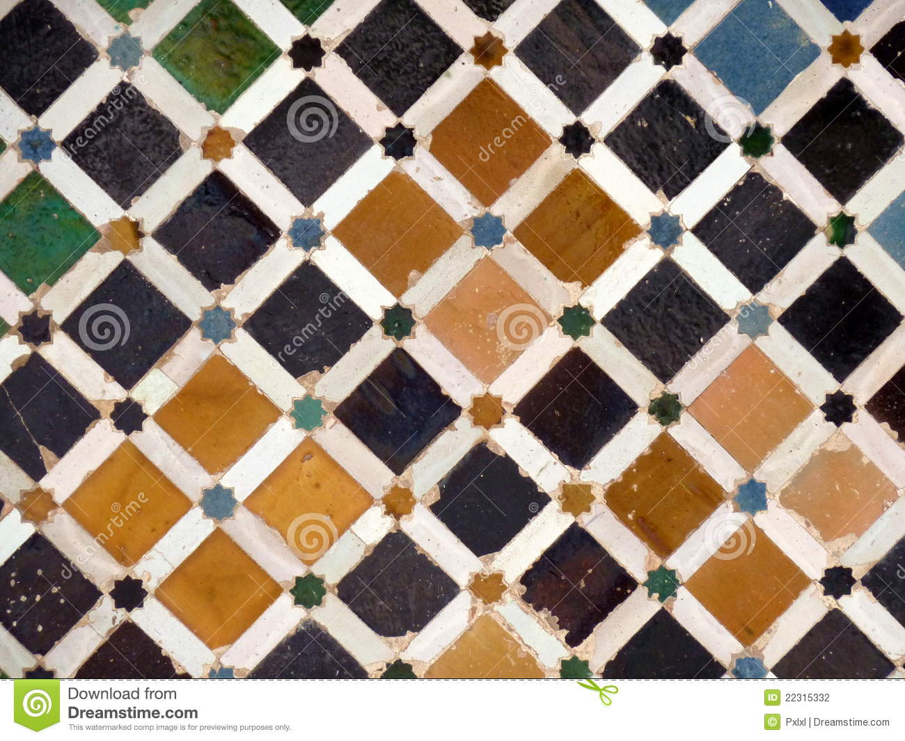 decorative tiles in spain stock photography - Decorative Tiles