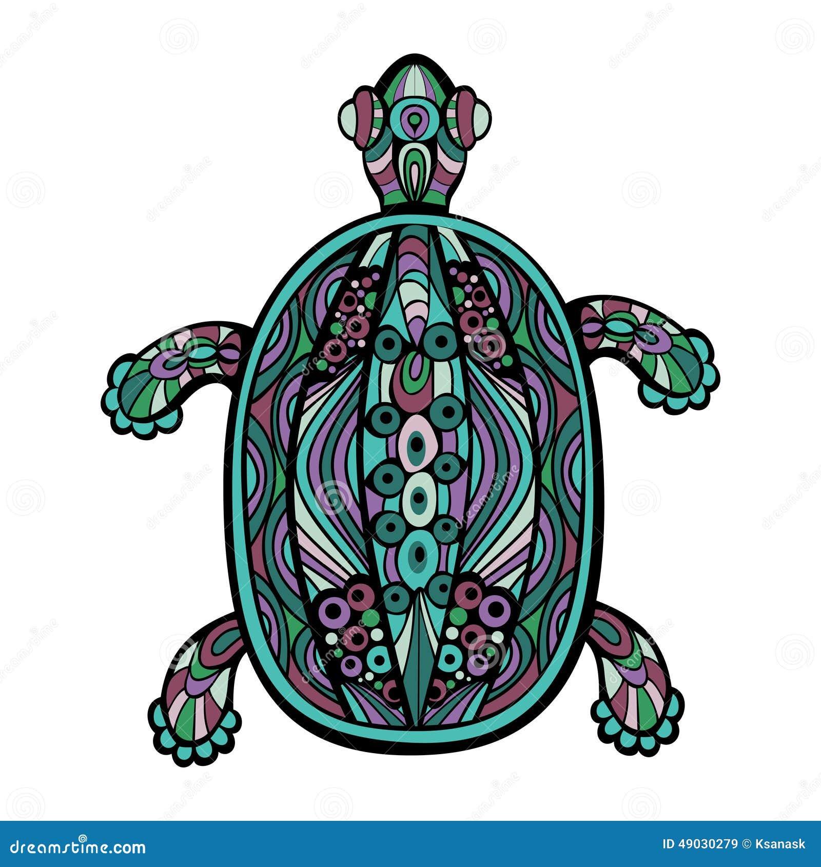 Decorative Turtle Stock Vector