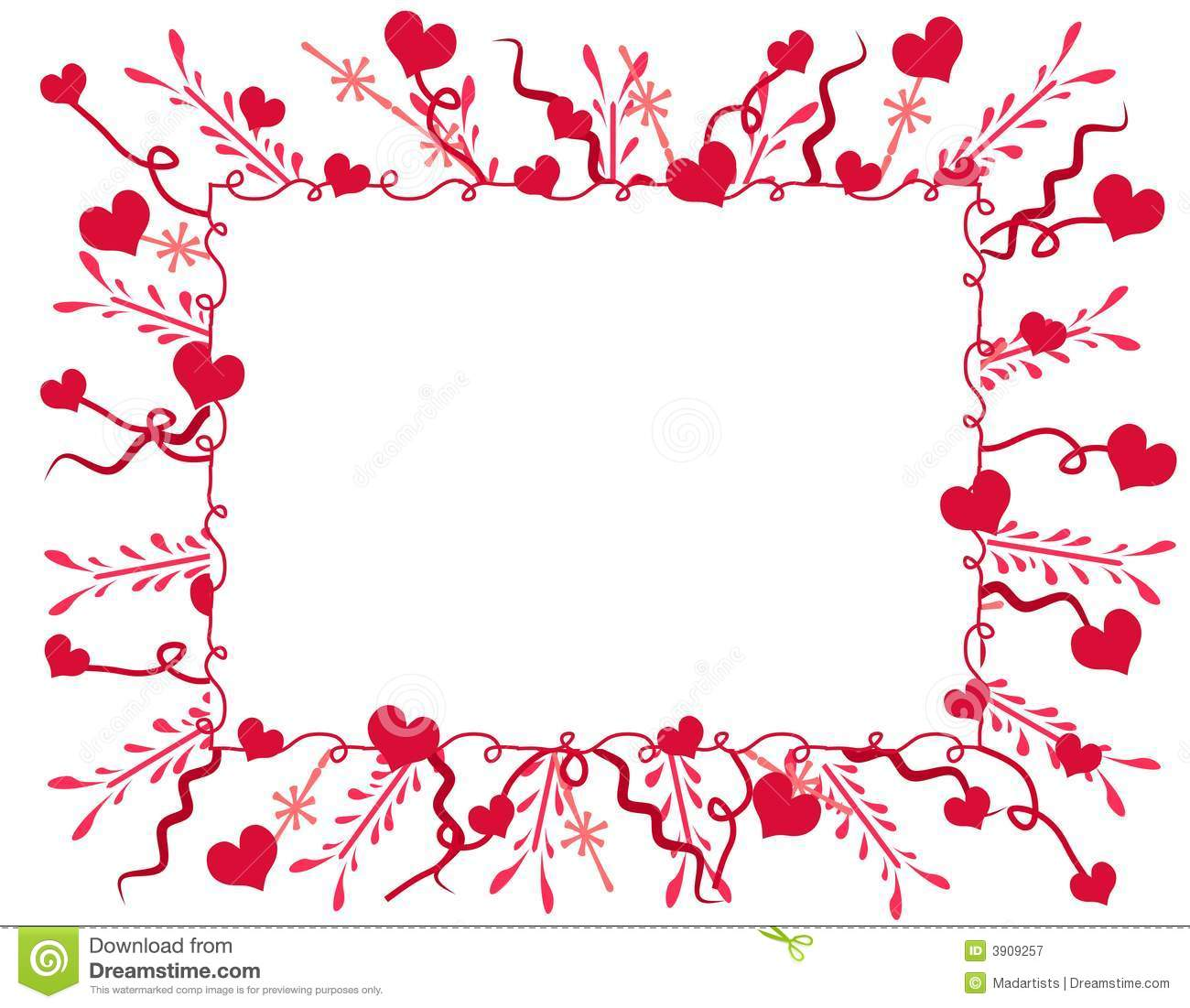 ... Hearts Frame Or Border Royalty Free Stock Photography - Image: 3909257