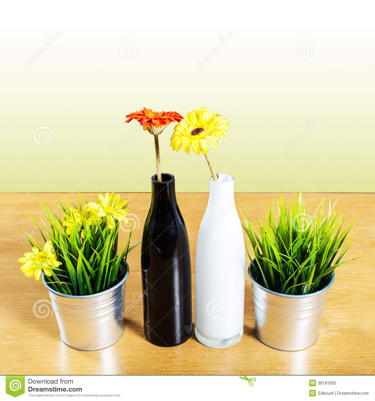 Decorative Vase On The Table Royalty Free Stock Photo