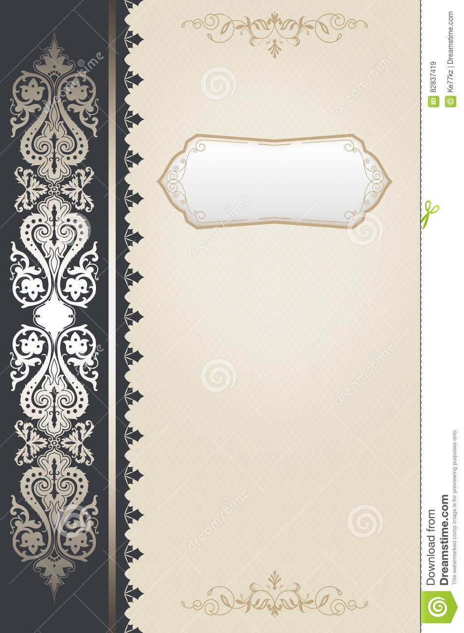 Vintage Book Cover Background : Decorative vintage background book cover design stock