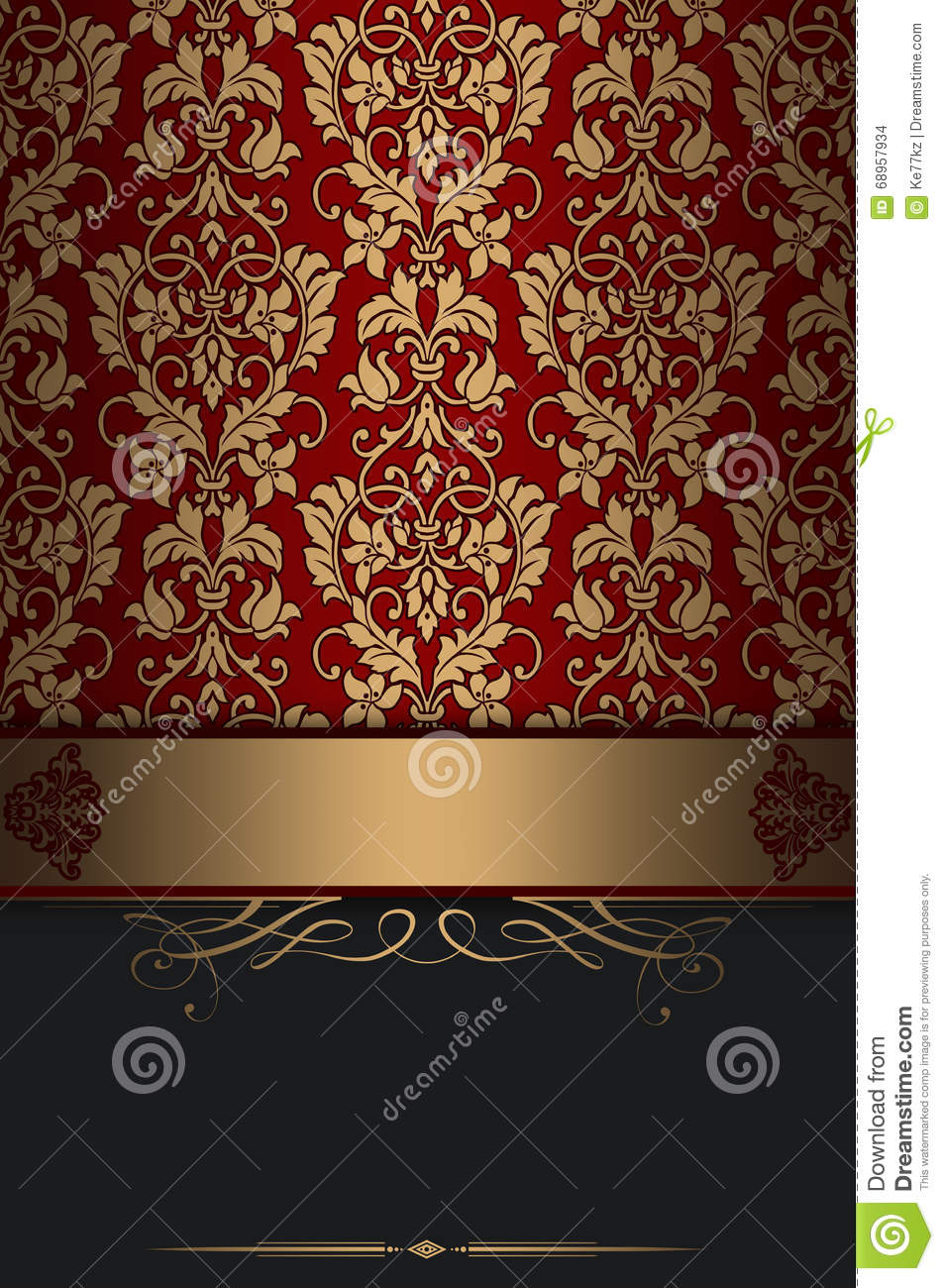 Old Fashioned Book Cover Design : Decorative vintage background with elegant patterns stock