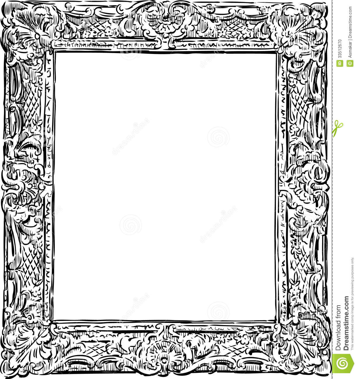 Decorative vintage frame stock photo. Image of wooden ...