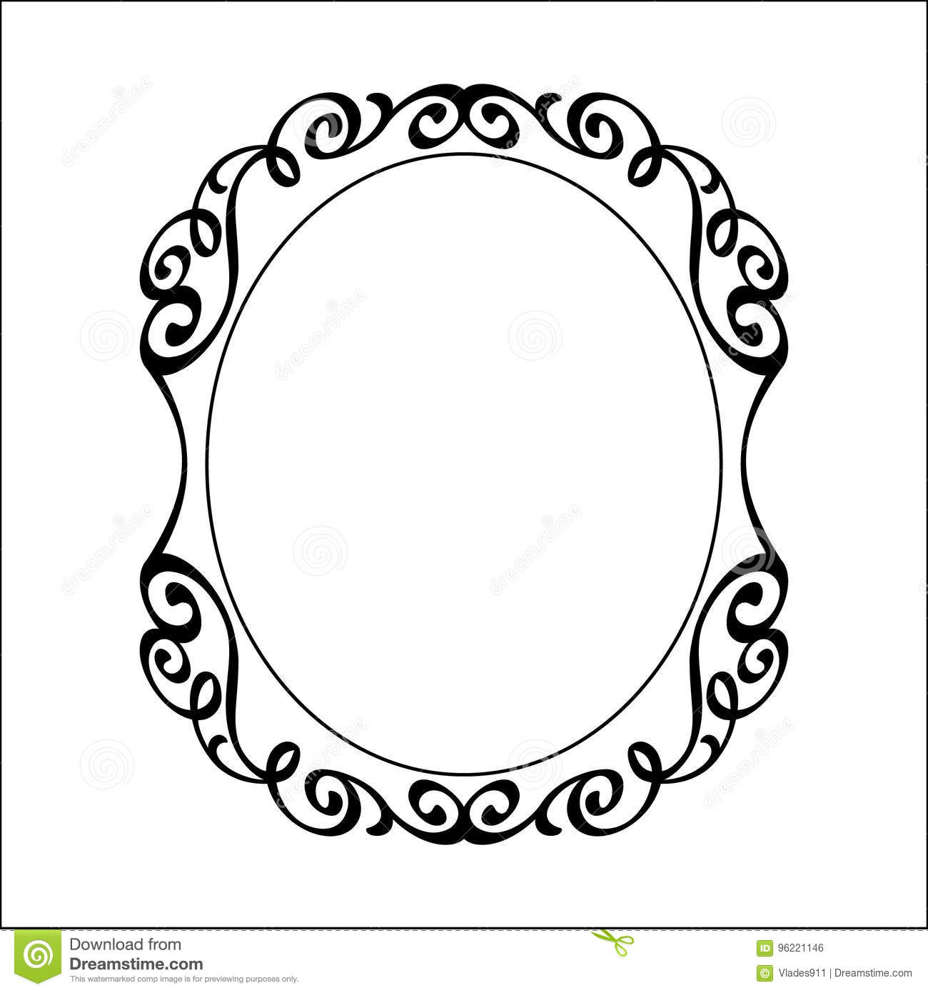 Download Decorative Vintage Frame Vector IllustrationBlack Stock
