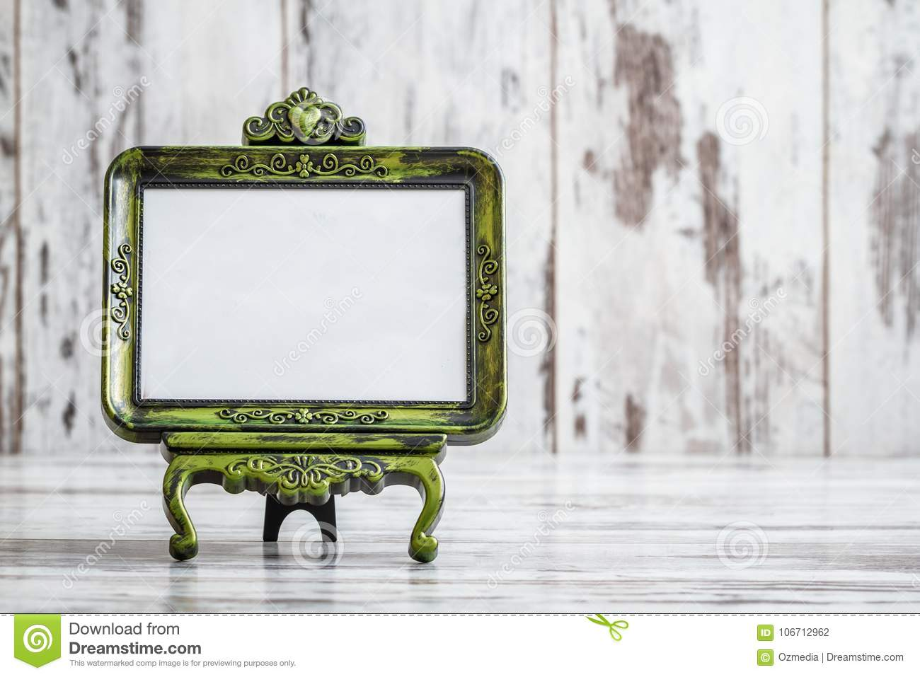 Decorative Vintage Tabletop Freestanding Picture Frames Stock Photo ...
