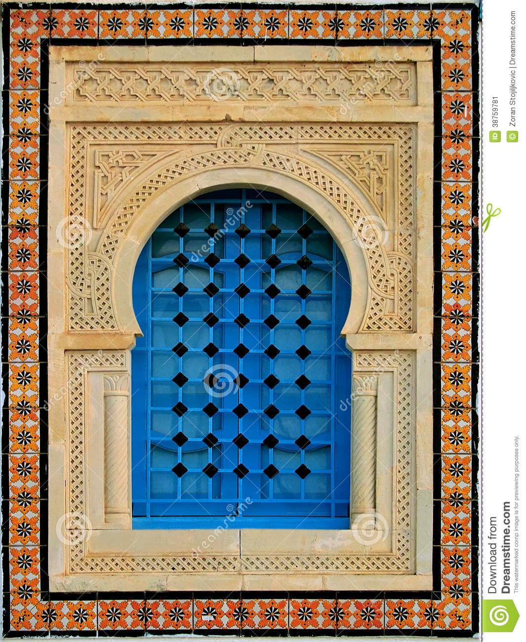 decorative window stock image image 38759781
