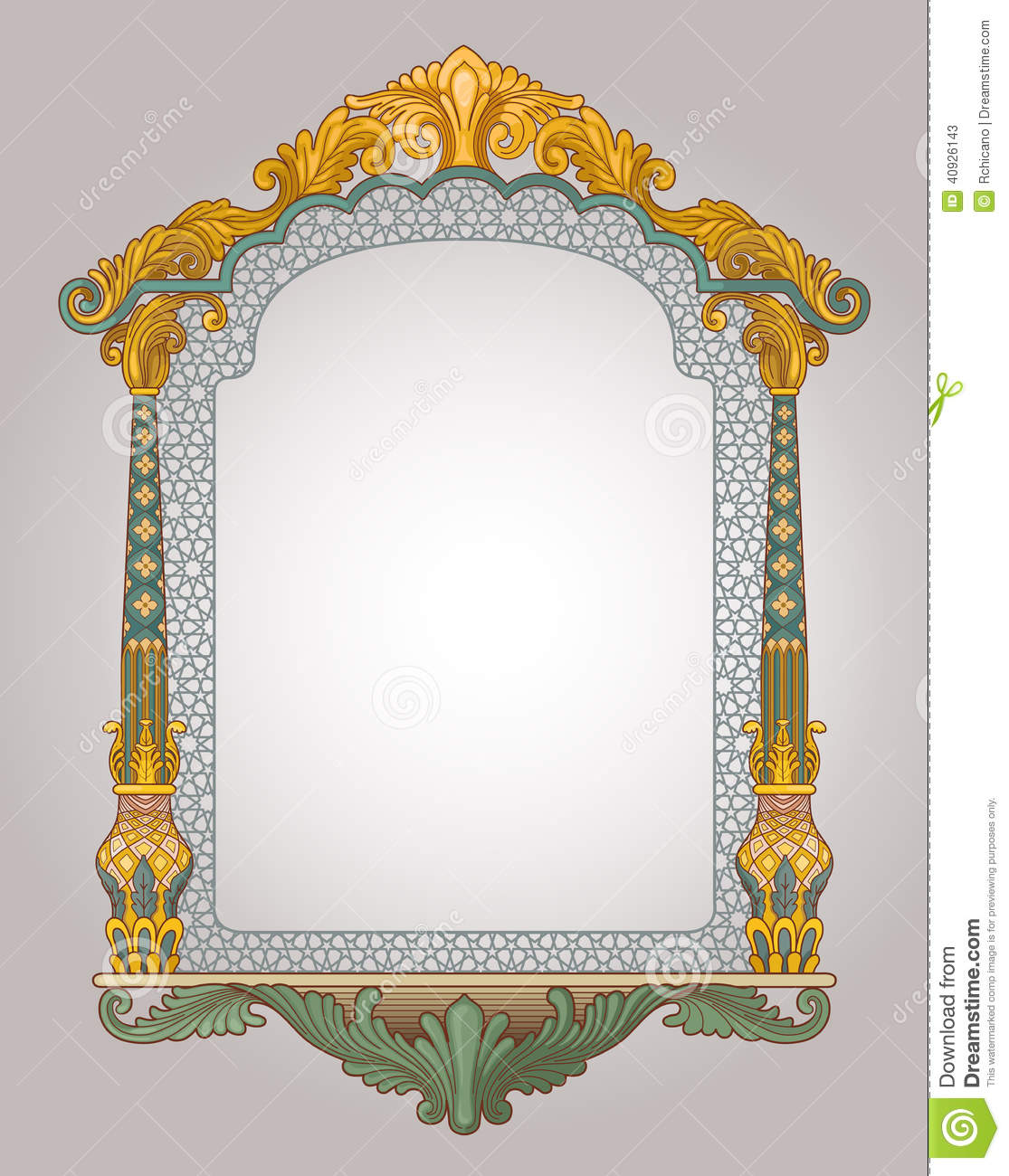 Decorative window frame stock illustration image of arch for Window design vector