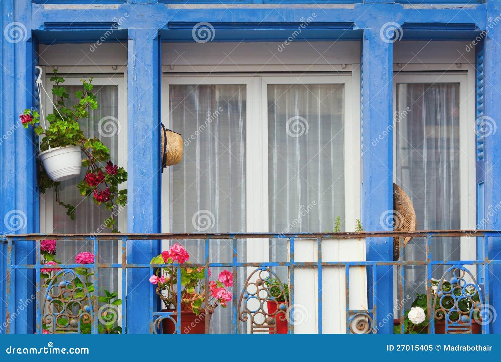 Decorative Window With Small Balcony Royalty Free Stock Photo