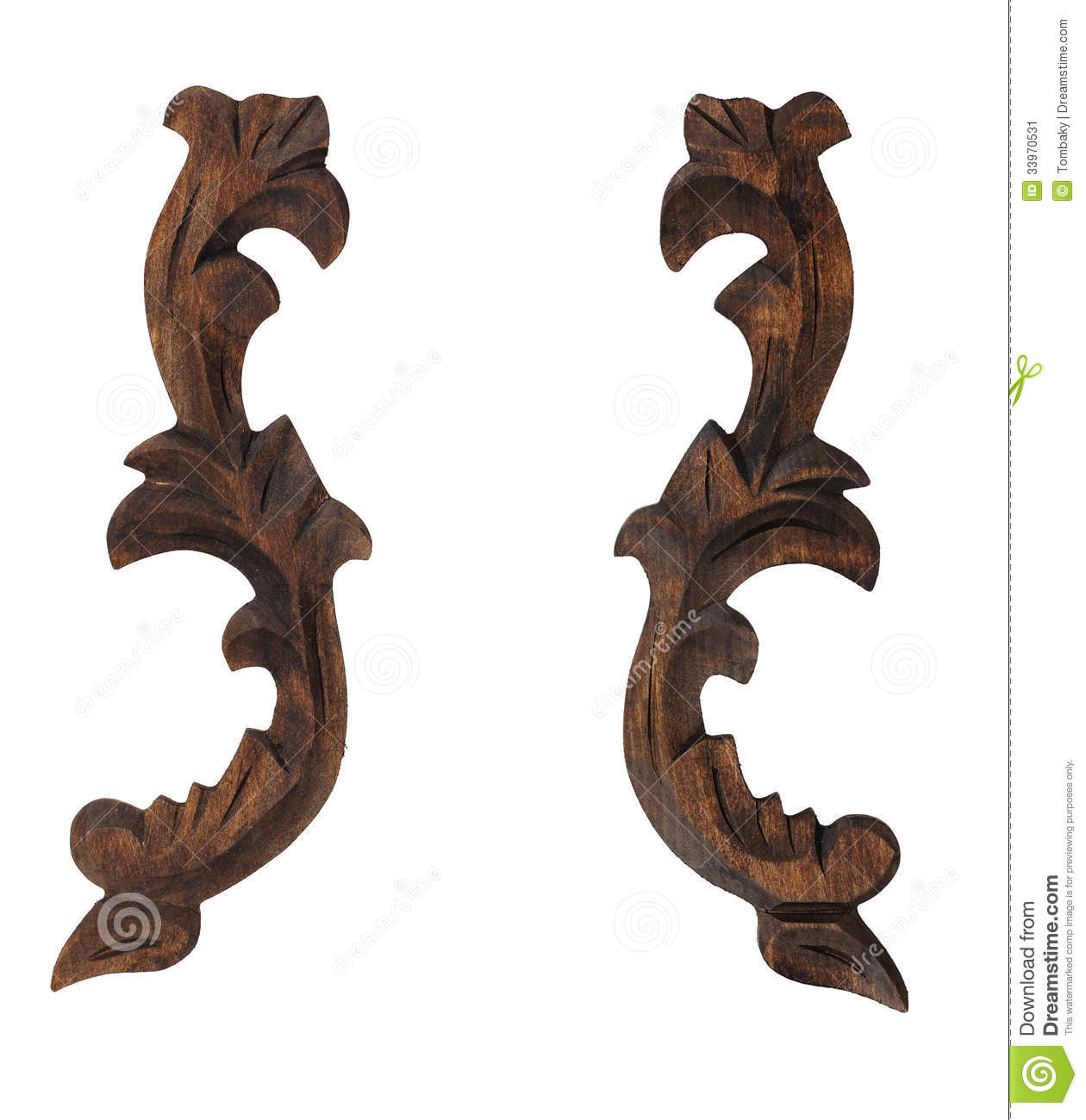 Decorative Wooden Ornament Pattern Stock Image