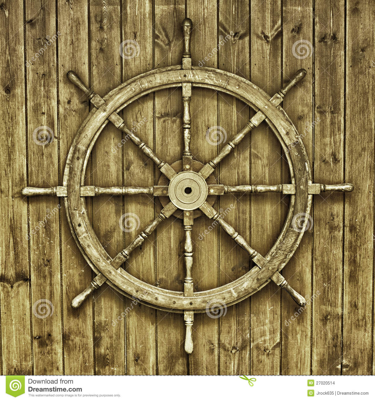 Decorative Wooden Ships Wheel Stock Photo - Image of old, steering: 27020514